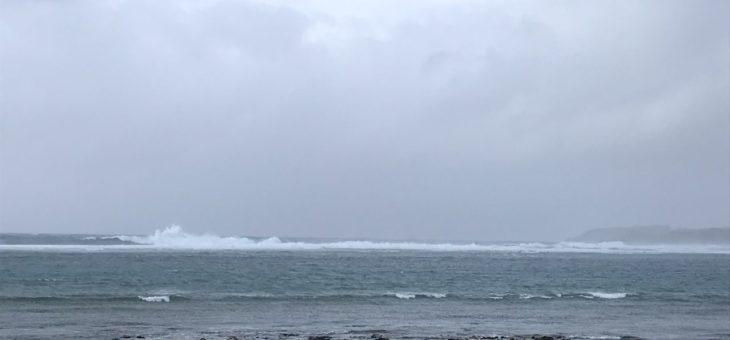 台風パトロールin奥武島